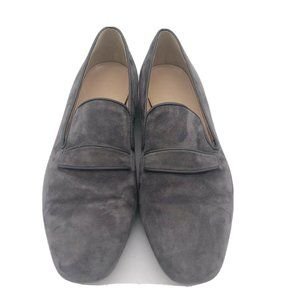 J. Crew Gray Suede Penny Loafers Women's Size 6.5